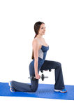 Standing Dumbbell Split-Squat Workout Royalty Free Stock Photos