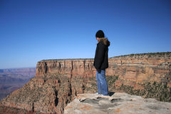 Standing on the Edge Stock Image