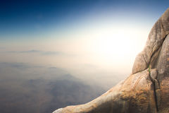 Standing empty on top of a mountain Stock Image