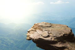 Standing empty on top of a mountain view Royalty Free Stock Photo