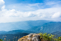 Standing empty on top of a mountain view Stock Photography