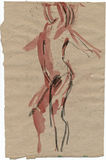 Standing figure. Hand drawing picture with alone figure Stock Images