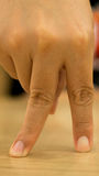 Standing fingers Stock Image