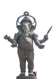Standing Ganesha on a white background, Thailand. Royalty Free Stock Photo