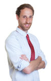Standing german businessman with beard Royalty Free Stock Photography