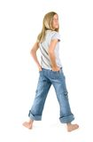 Standing Girl Looking Back Royalty Free Stock Images