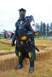 Standing green knight Stock Photo