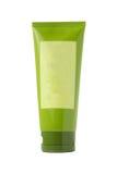 Standing green plastic tube Stock Photo