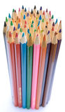 Standing group of pencils Royalty Free Stock Photos