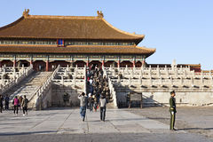 Standing Guard at Forbidden City Royalty Free Stock Photos