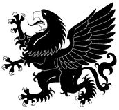 Standing heraldic griffin Royalty Free Stock Images