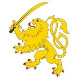 Standing heraldic lion Stock Image