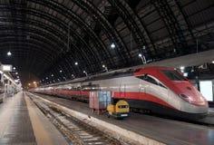Standing high-speed train Stock Photo