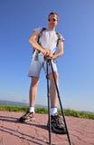 Standing hiker Stock Image