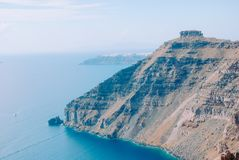 A delightful view of the Aegean Sea and Caldera Volcano. royalty free stock image