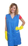 Standing housewife with blond hair Royalty Free Stock Photos