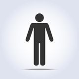 Standing human icon. Vector illustration Royalty Free Stock Image