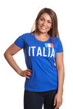 Standing italian girl Royalty Free Stock Photography