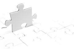 Standing Jigsaw Piece Stock Photo