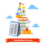 Standing on knowledge concept Stock Photography