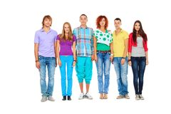 Standing in line Stock Images