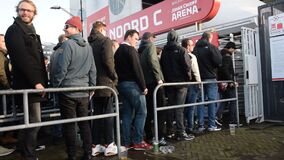 Standing In Line At The C Entrance At The Johan Cruijff Arena At Amsterdam The Netherlands 2020