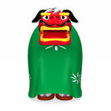 Standing Lion Dance Front View Stock Photos