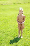 Standing little indian girl Stock Photos