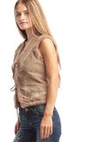 Standing longhaired woman Stock Image