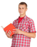 Standing male student with book Stock Photography