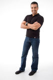 Standing man with crossed arms Royalty Free Stock Image