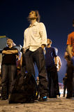 STANDING MAN PROTEST IN ISTANBUL - TURKEY Stock Image