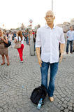 Standing Man protest in Istanbul royalty free stock image