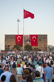 Standing Man protest in Istanbul royalty free stock photos