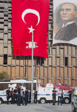 Standing Man protest in Istanbul Stock Image