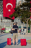 Standing Man protest in Istanbul Royalty Free Stock Photo