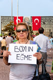 Standing Man protest in Istanbul royalty free stock images
