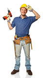 Standing manual worker Royalty Free Stock Photo