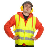 Standing manual worker Royalty Free Stock Photography