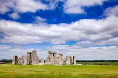 Stonehenge prehistoric monument Wiltshire South West England UK. Standing megalith stones of ancient prehistoric monument Stonehenge in Wiltshire, South West stock image