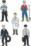Standing men of various occupations. Vector illustration of standing men of various occupations. Easy-edit layered vector EPS10 file scalable to any size without Royalty Free Stock Photos