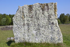 Standing menhir rock Royalty Free Stock Photo
