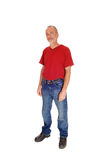 Standing middle age man. Stock Photo