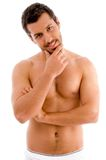 Standing muscular man Royalty Free Stock Images