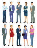 Standing office professionals Royalty Free Stock Images