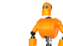 Standing Orange Robot Royalty Free Stock Photo