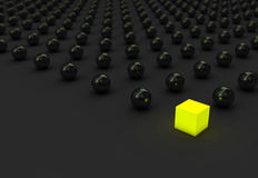 Standing Out. From The Crowd 3d render stock illustration