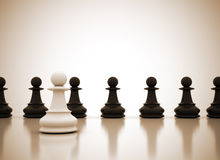 Standing out. From the crowd chess illustration Royalty Free Stock Photos