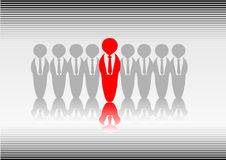 Standing out. Abstract vector of someone standing out from the crowd royalty free illustration