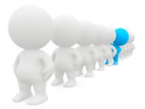 Standing out 3D man Royalty Free Stock Photo